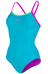 speedo Endurance10 Thirnstrap Muscleback Swimsuit Women aquarium/diva/fluo green